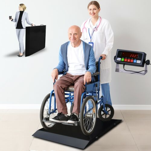 New Prime Scales 1000lb Wheelchair Scale with Indicator Ultra Portable & Durable
