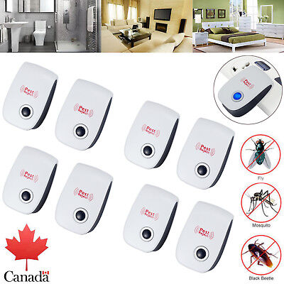 8X Ultrasonic Electronic Anti Rodent Mice Mosquito Pest Bug Control Repeller CA