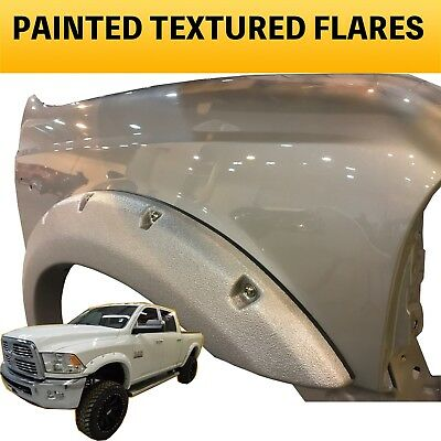 2014 2015 Dodge Ram 2500 3500 Painted TEXTURED Fender Flares to Match - W/Bolts