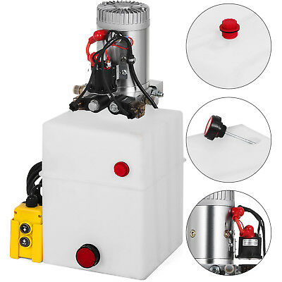 20 Quart Double Acting Hydraulic Pump Dump Trailer 12v Power Unit Lift