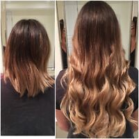 Full head of tape in extensions $300