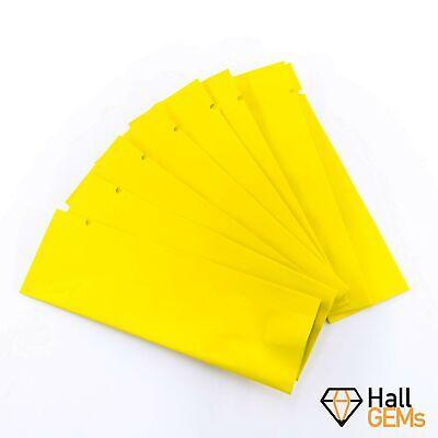 Mylar Open Top Bag 3.5x11cm (Yellow, 100)