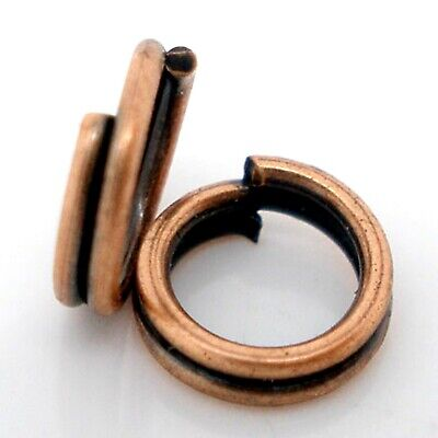 - 5mm Copper Split Jump Ring Finding Connector Double Loop Jewelry Making Beading