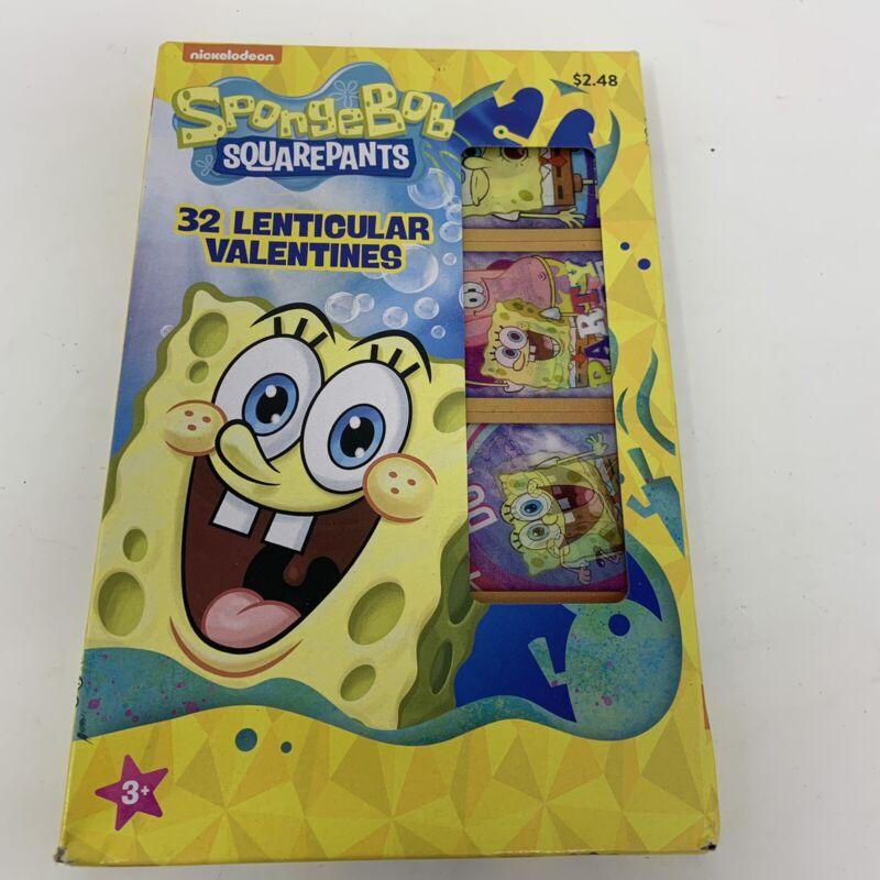 32 Lenticular SpongeBob Squarepants Classroom Valentine Exchange Cards