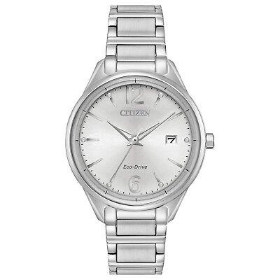- Citizen Eco Drive Women's FE6100-59A Diamond Accents Silver-Tone 37mm Watch
