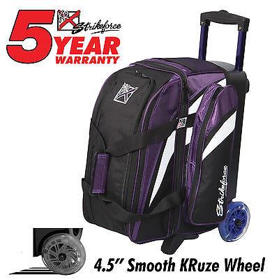 KR Cruiser Premium 2 Ball Roller Bowling Bag Color Purple/White