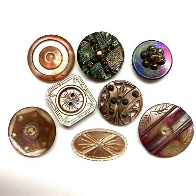 Package of 6 Copper Shank Buttons 58 15 mm buttons,
