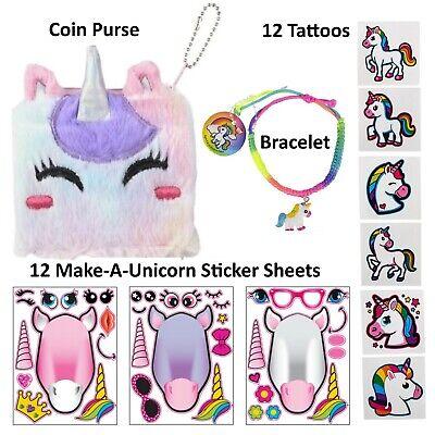 Unicorn Gift Set with Unicorn Stickers, Tattoos & More - Girls Stocking Stuffers