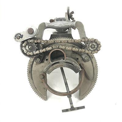 Mathey Dearman Msa 1.5 - 4 Manual Saddle Pipe Beveling Machine W Torch Holder
