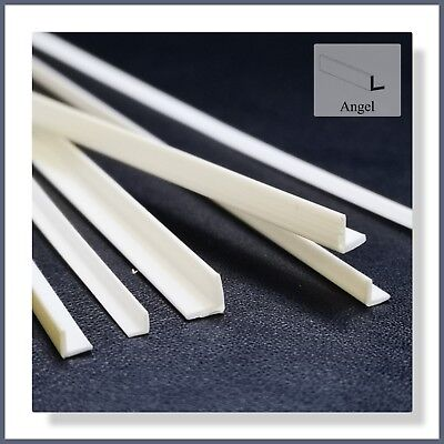 """ABS Styrene 6pcs Mixed """"L Shape"""" Bar - Suitable for all Model Trains etc."""