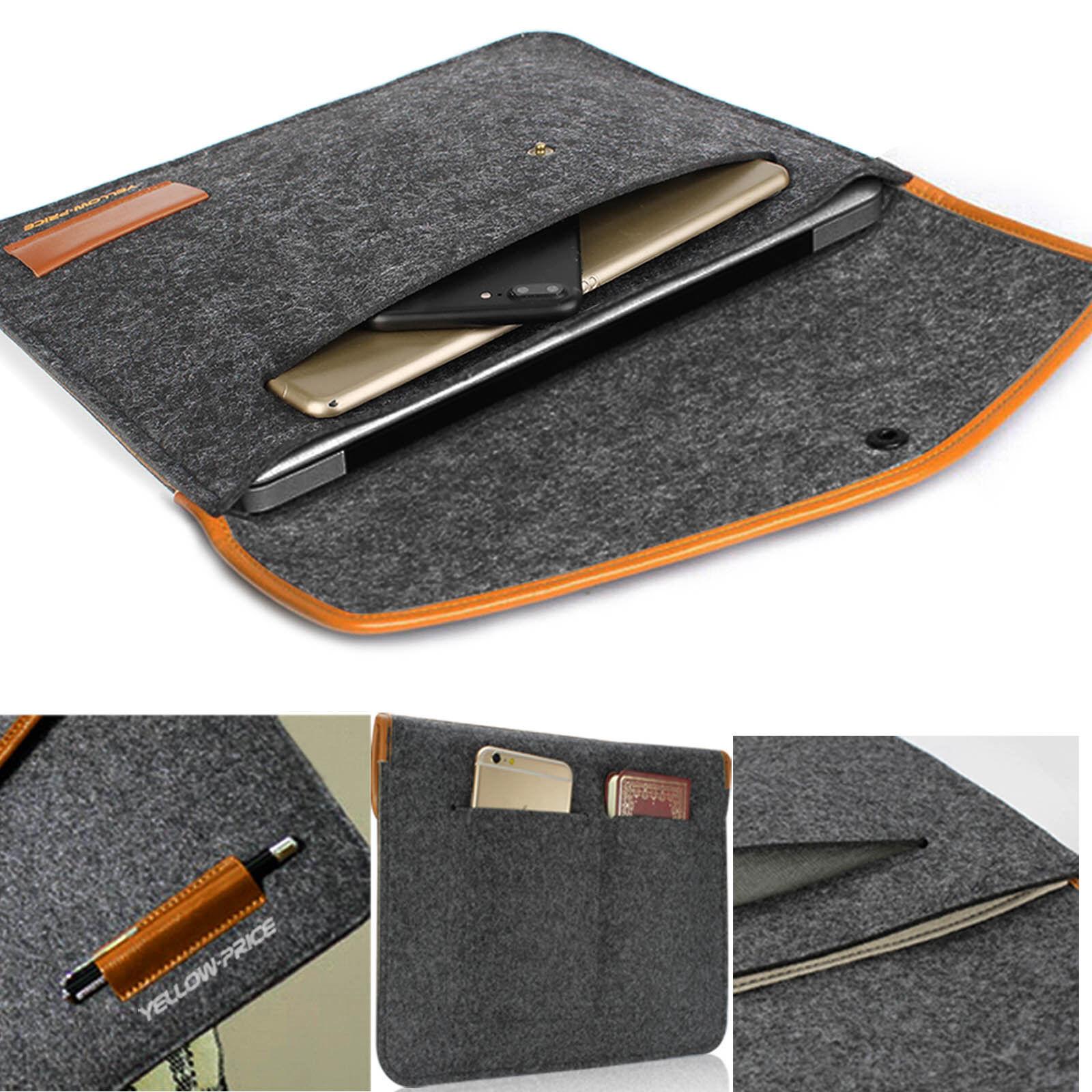 Felt Sleeve Laptop Case Cover Bag for Apple MacBook Air Pro