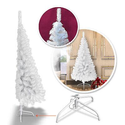 New 5/6 Feet Artificial Wall Christmas Tree w Metal Stand Wall Corner Half Tree ()