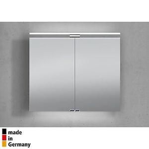 Spiegelschrank 80 cm LED Beleuchtung doppelt verspiegelt | eBay