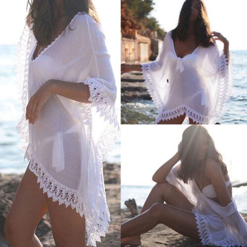 women lace crochet bikini cover up beach
