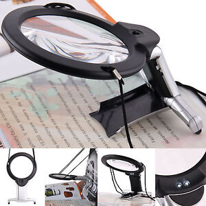 Dual-Purpose Magnifier Large Hands Free Magnifying Glass Reading With Led Light