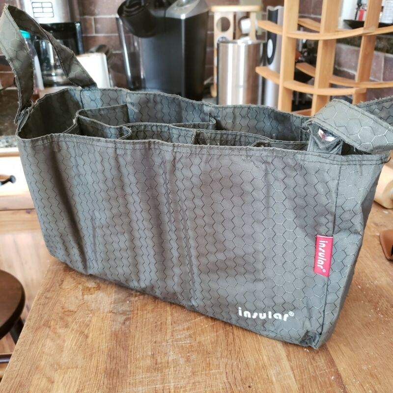 Insular Grey Stroller Diaper Bag Organizer