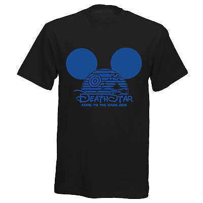 Star Wars Death Star Mickey Inspired Boys Girls Womens Kids Mens Funny T Shirt