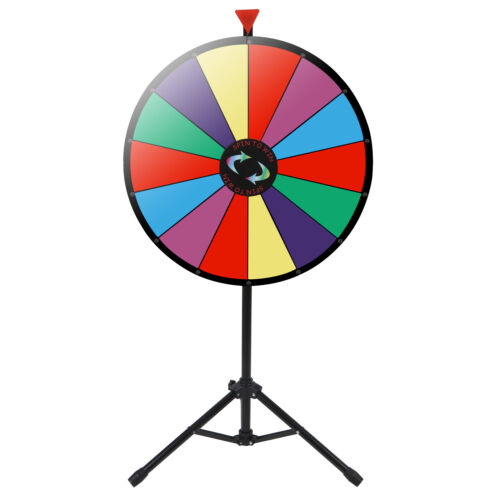 Durable 14 Slots Prize Wheel Customizable Color Erasable Tradeshows Game 24″ Business & Industrial