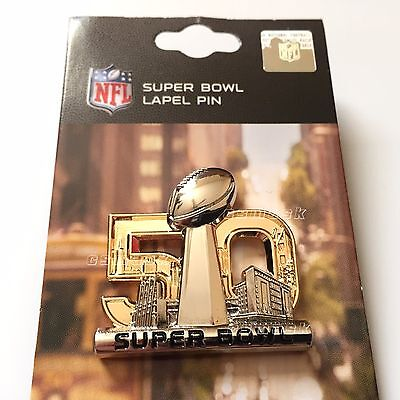 SALE NEW Super Bowl 50 PRESS PIN gold Lapel Pin 3D Broncos Champions Manning hat