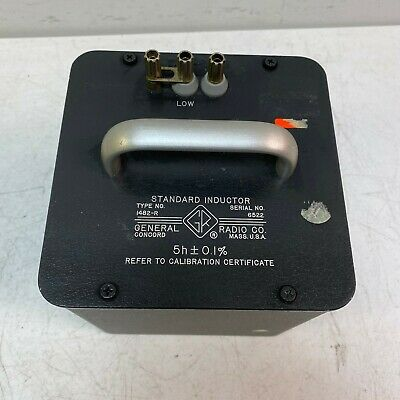 Gr General Radio Company Type 1482-r Standard Inductor Tested And Working