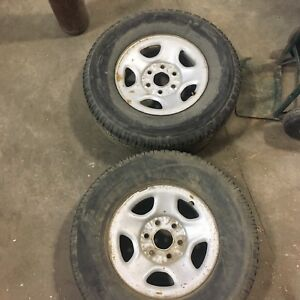2 GMC TIRES AND RIMS