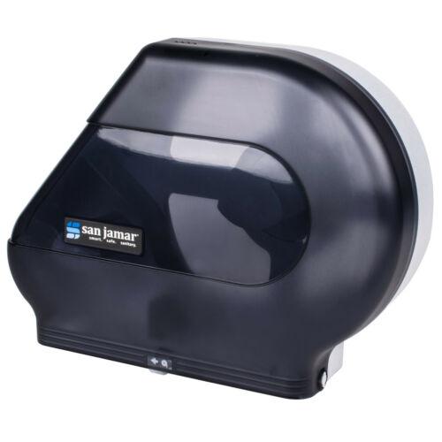 """SAN JAMAR QUANTUM R6500TBK Quantum Jumbo Toilet Tissue Paper Dispenser,12-13"""",Bk"""