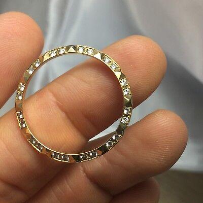 Rolex 18K Yellow Gold Factory Pyramid Diamond Bezel for Ladies 26mm Watch