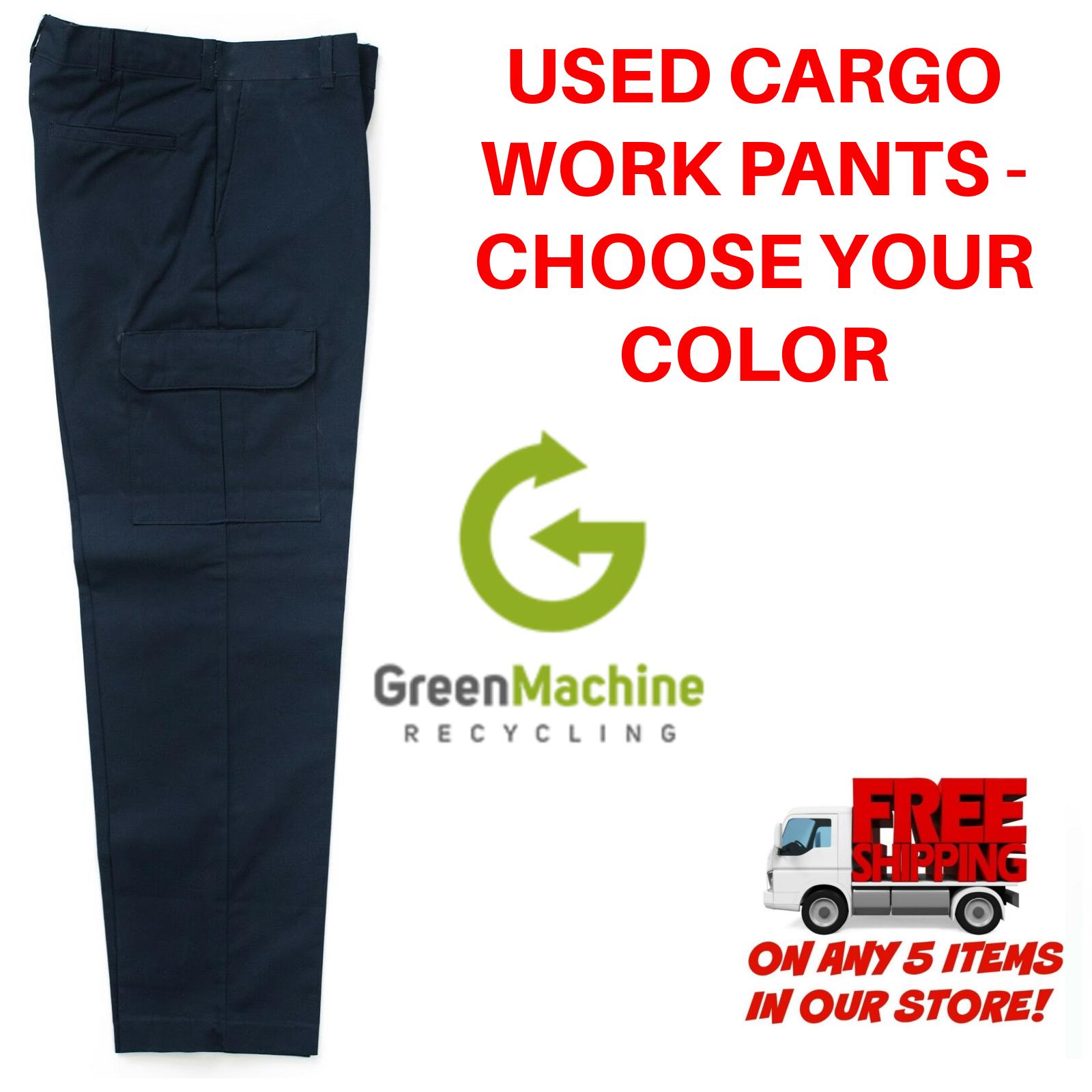 Used Uniform Work Pants Cargo Cintas Redkap Unifirst G&K Dic