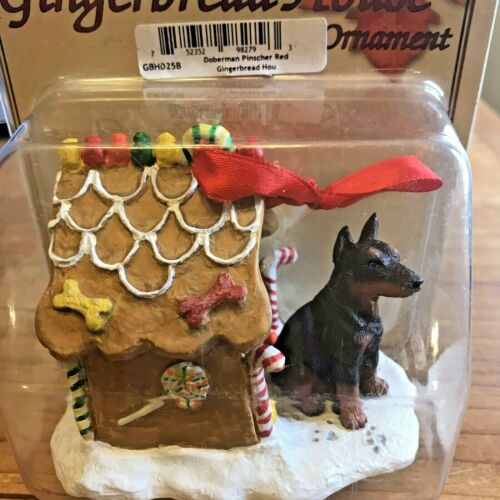 Doberman Pinscher Christmas Ornament Gingerbread Dog Ornament Red Dobie New