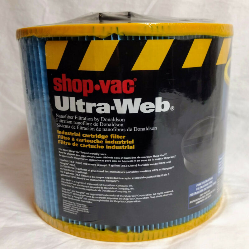Shop-Vac Industrial Cartridge Filter Ultra-Web Type Z Fine Filtration 90390 USA