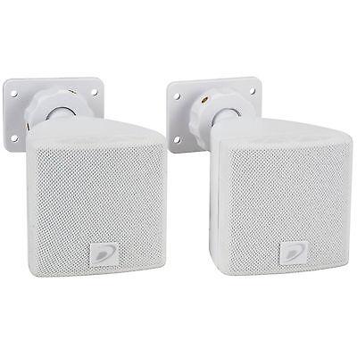 "Dayton Audio SAT3W 3"" Cube Speaker Pair White"