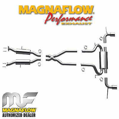 Dual Exhaust Magnaflow Cat (MAGNAFLOW Cat Back Dual Exhaust System 2011-2019 Jeep Grand Cherokee 3.6L 5.7L )