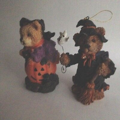 Two Halloween Resin Bear Figurines 5