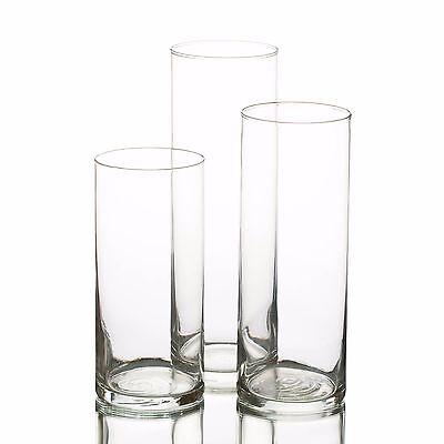 Eastland Glass Cylinder Vases Set of 3, Home, Wedding & Event Decor, Centerpiece](Cylinder Glass Vases)
