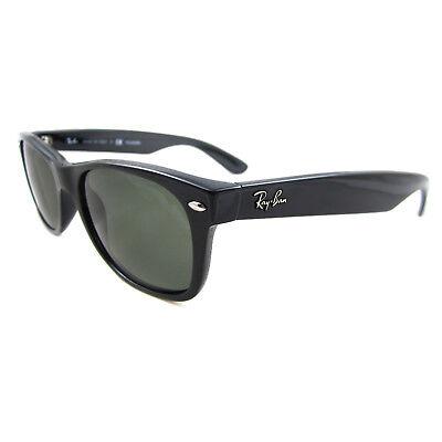 418f2e48ade54 Ray-Ban Sunglasses New Wayfarer 2132 901 58 Black Green G-15 Polarized
