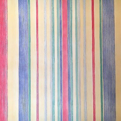 Vintage Wallpaper Primary Multi-colors Stripes Children playroom by Motif Primary Stripe Wallpaper