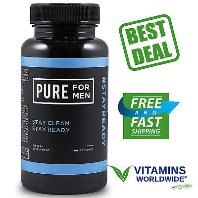 PURE FOR MEN SUPPLEMENT Digestive Dietary Blend Fibers Natural Vegan 60 (Digestion Blend)