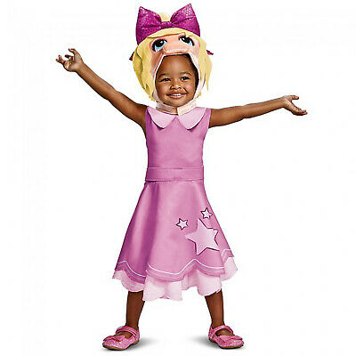 Toddler Disney Muppet Babies Miss Piggy Halloween Costume Dress Baby Girl 2T-4T
