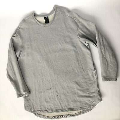 Adidas 2XL Heather Gray Soccer Emblem Sweatshirt Pullover Top