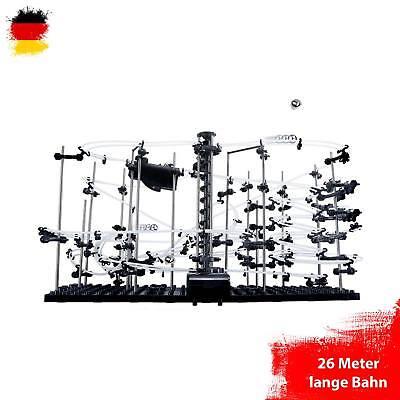 Kugelbahn Murmelbahn, Konstruktions-Set mit 26 Meter Länge, Level 4, Space-Rail