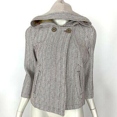 Tulle 3/4 Sleeve Crop Jacket Hood Lined Cotton Pockets Womens XS Girl Junior NWT 3/4 Sleeve Crop Jacket