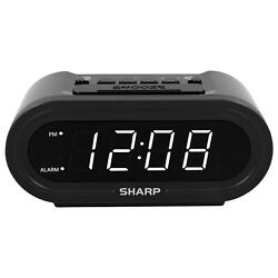 Sharp AccuSet ALARM CLOCK with DISPLAY DIMMER Automatic Time Set, Time Zone & Da