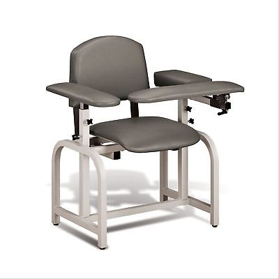 Lab X Padded Phlebotomy Blood Draw Chair 20 Seat Height Warm Gray