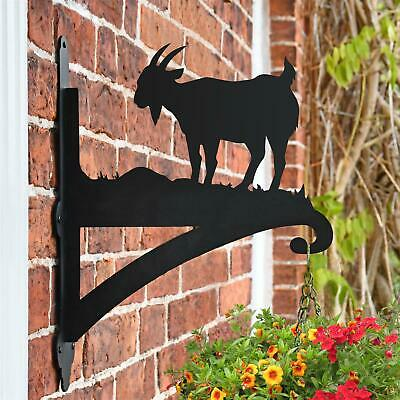 New Mountain Goat Iron Hanging Basket Bracket - 44cm x 33cm