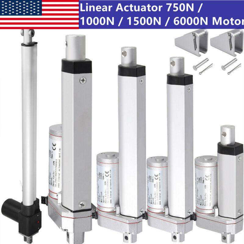 "2""-18"" Inch  Electric Linear Actuator 750N/1000N/1500N/6000N Heavy Duty DC 12V"