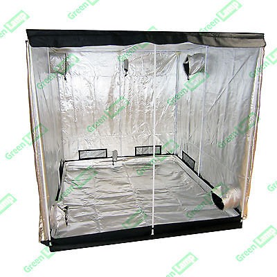 Premium 200 x 200 x 200cm 600D Mylar Indoor Grow Tent Box Hydroponics Dark Room
