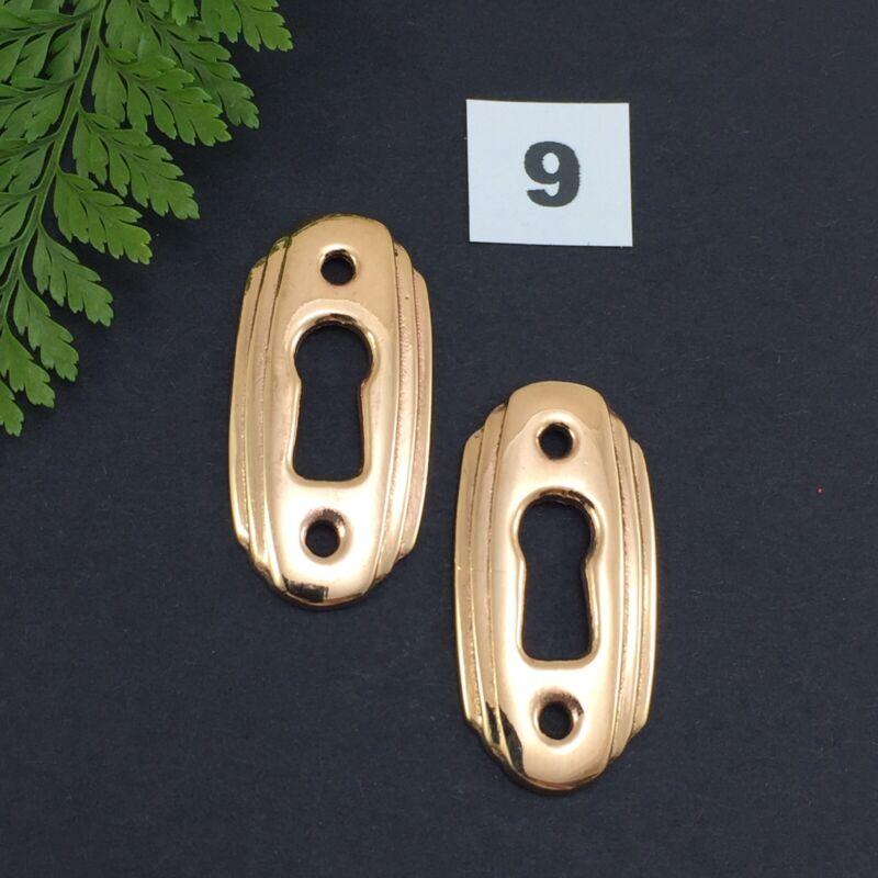 2 x Bronze Keyhole Escutcheon Vintage Furniture Cabinet Restoration Size 9