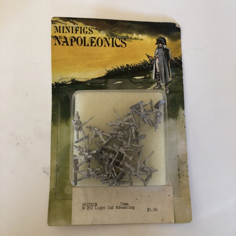 Minifigs Napoleonics 15mm Britain Light Inf Advancing  N-202. Pre-owned In Pkg.