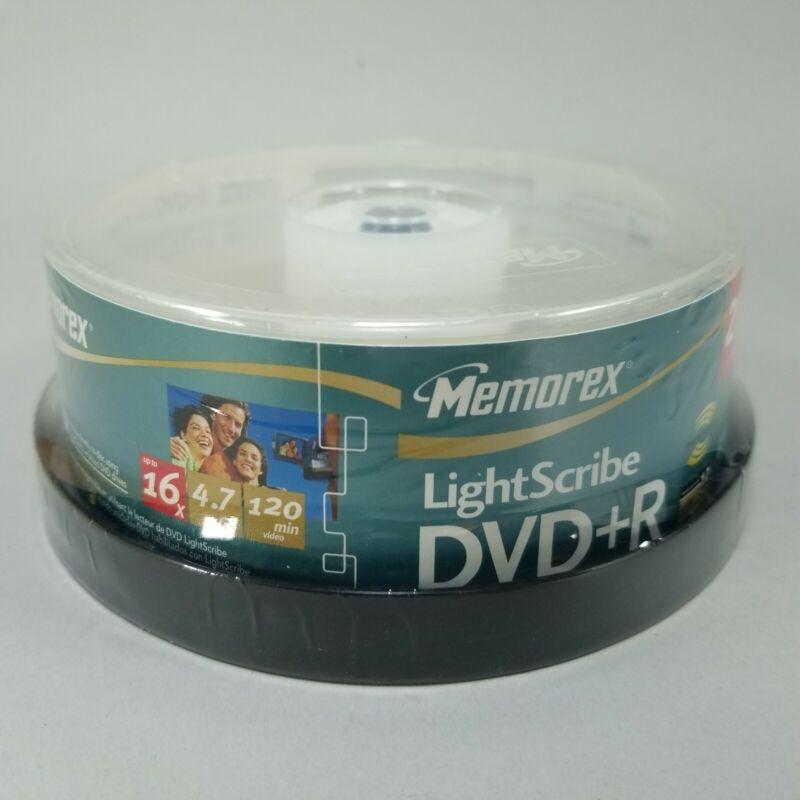 NEW! Memorex LightScribe DVD+R 20 Pack 4.7GB 16x 120min FACTORY SEALED