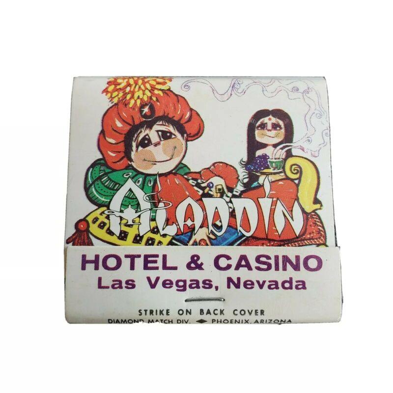 Aladdin Hotel & Casino Vintage Las Vegas Nevada Matchbook Souvenir Unstruck